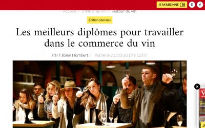 L'ISV dans le spécial formation de la Revue des Vins de France