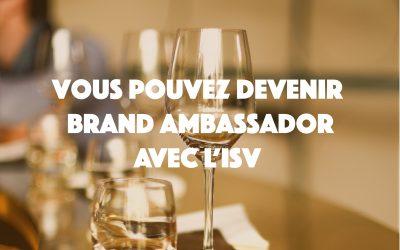 Devenir Brand Ambassador avec l'ISV